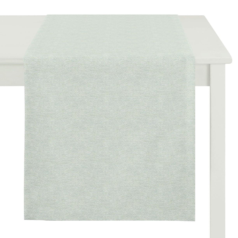 home24 Apelt Tischläufer Morris Mint Webstoff Modern 45x135 cm (BxT)