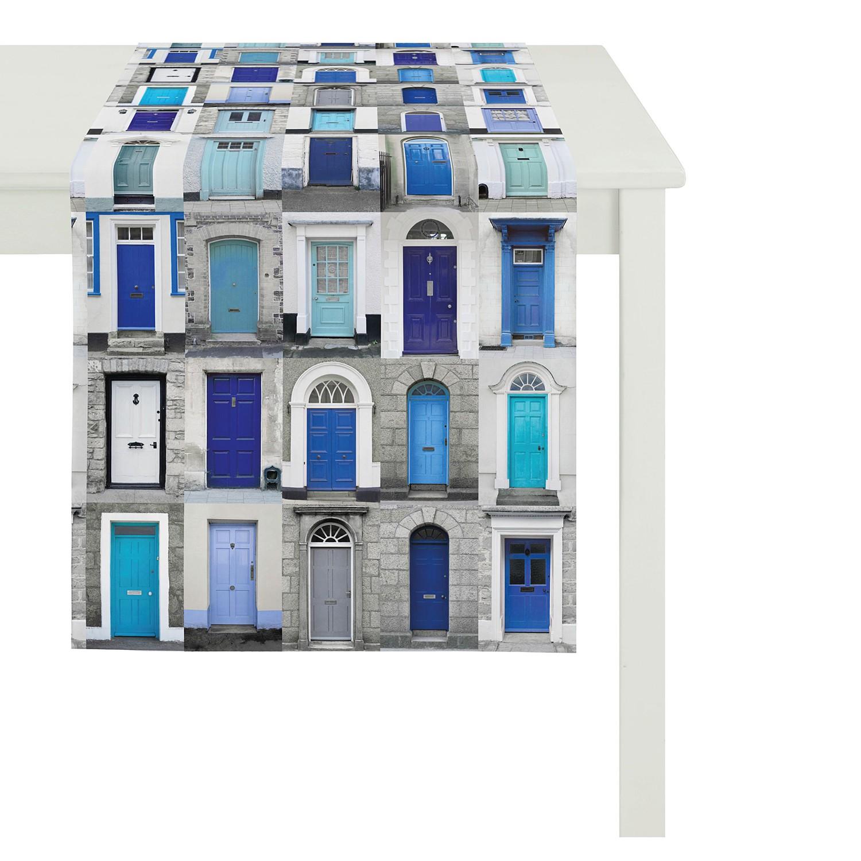 home24 Tischlaeufer Portofino I   Heimtextilien > Tischdecken und Co > Tischläufer   Blau   Apelt