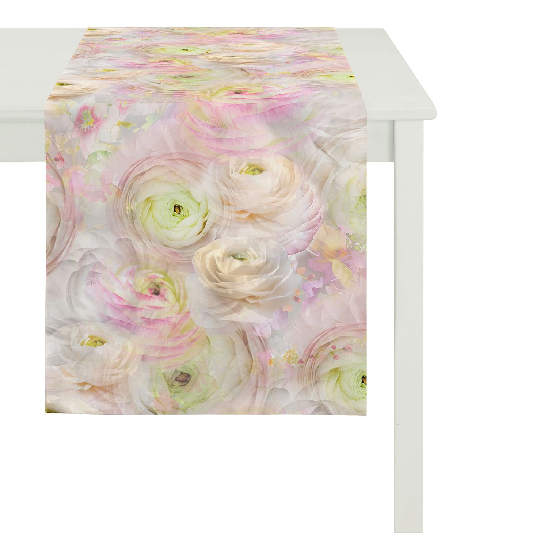 home24 Tischlaeufer Springtime II   Heimtextilien > Tischdecken und Co > Tischläufer   Pink   Textil   Apelt