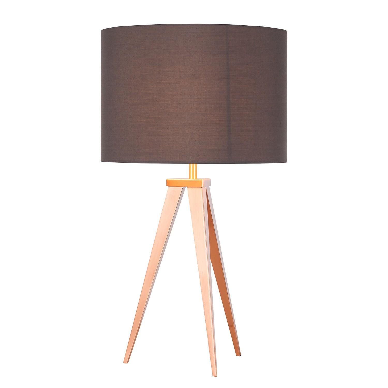 EEK A++, Lampe de table Tripod Asmo I - Métal / Tissu - 1 ampoule, Loistaa
