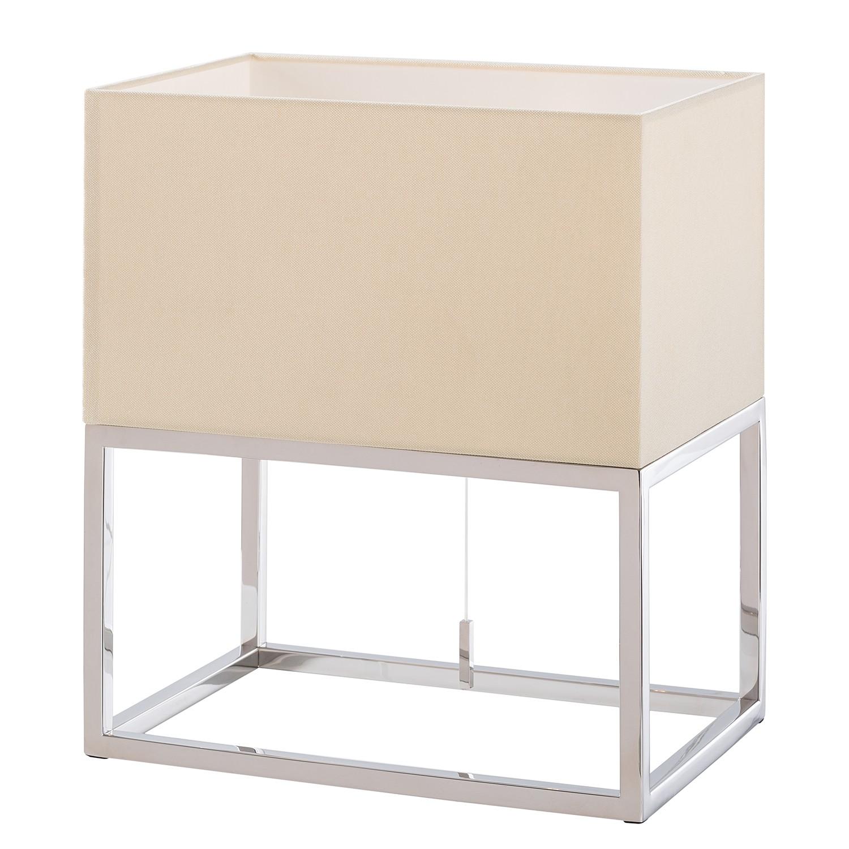 EEK A++, Lampe de table Vitus II - Tissu / Acier inoxydable - 1 ampoule, Loistaa