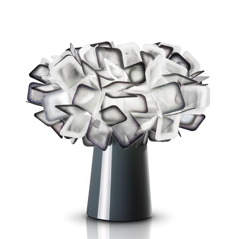 EEK A++, Lampe de table Clizia I - Lentiflex® / Acier inoxydable - 1 ampoule - Noir, Slamp