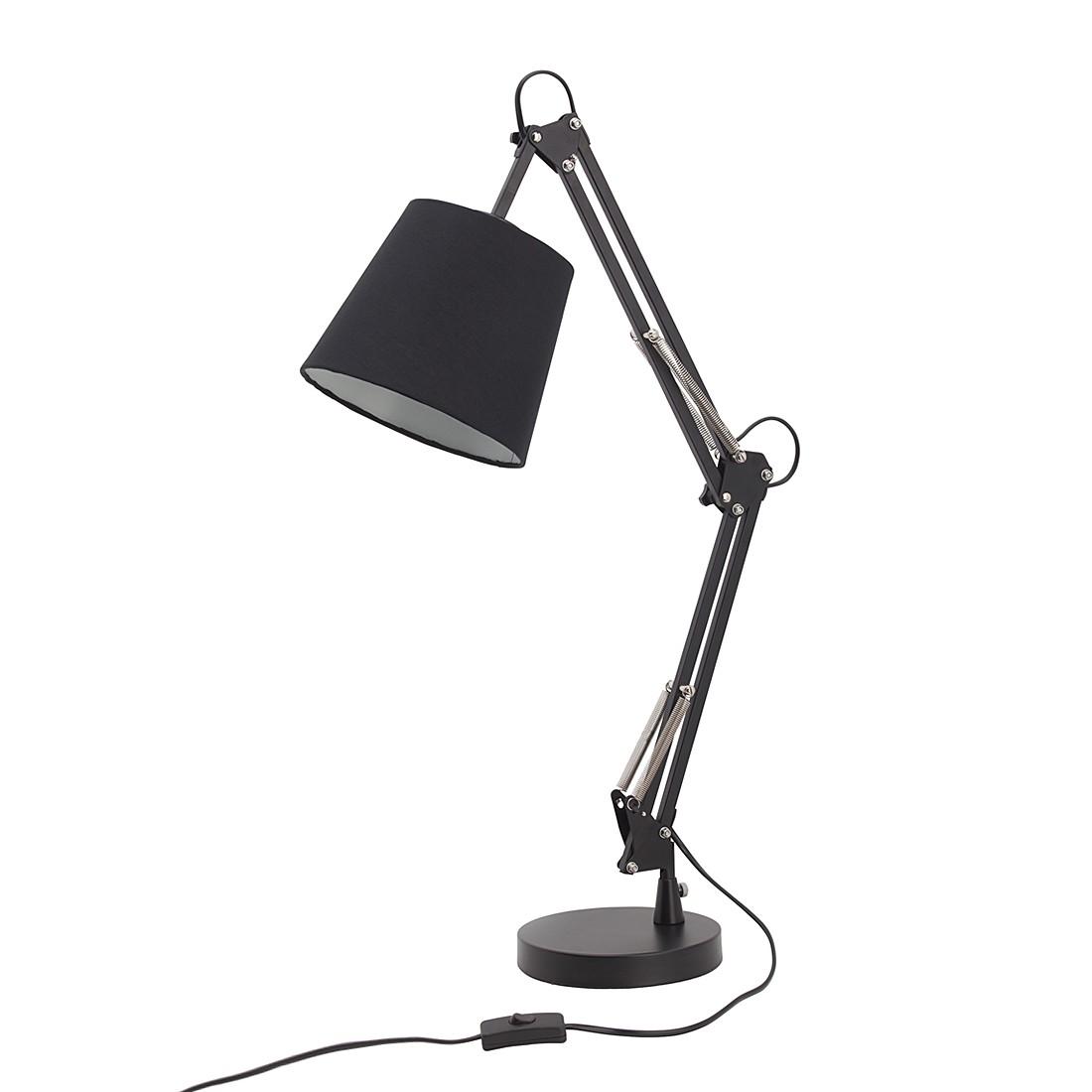 home24 Tischleuchte Dublin   Lampen > Tischleuchten   Schwarz   Metall - Textil   Brilliant