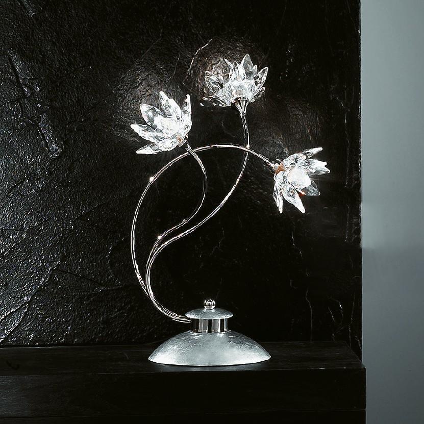 home24 Tischleuchte  Fiorella Silber