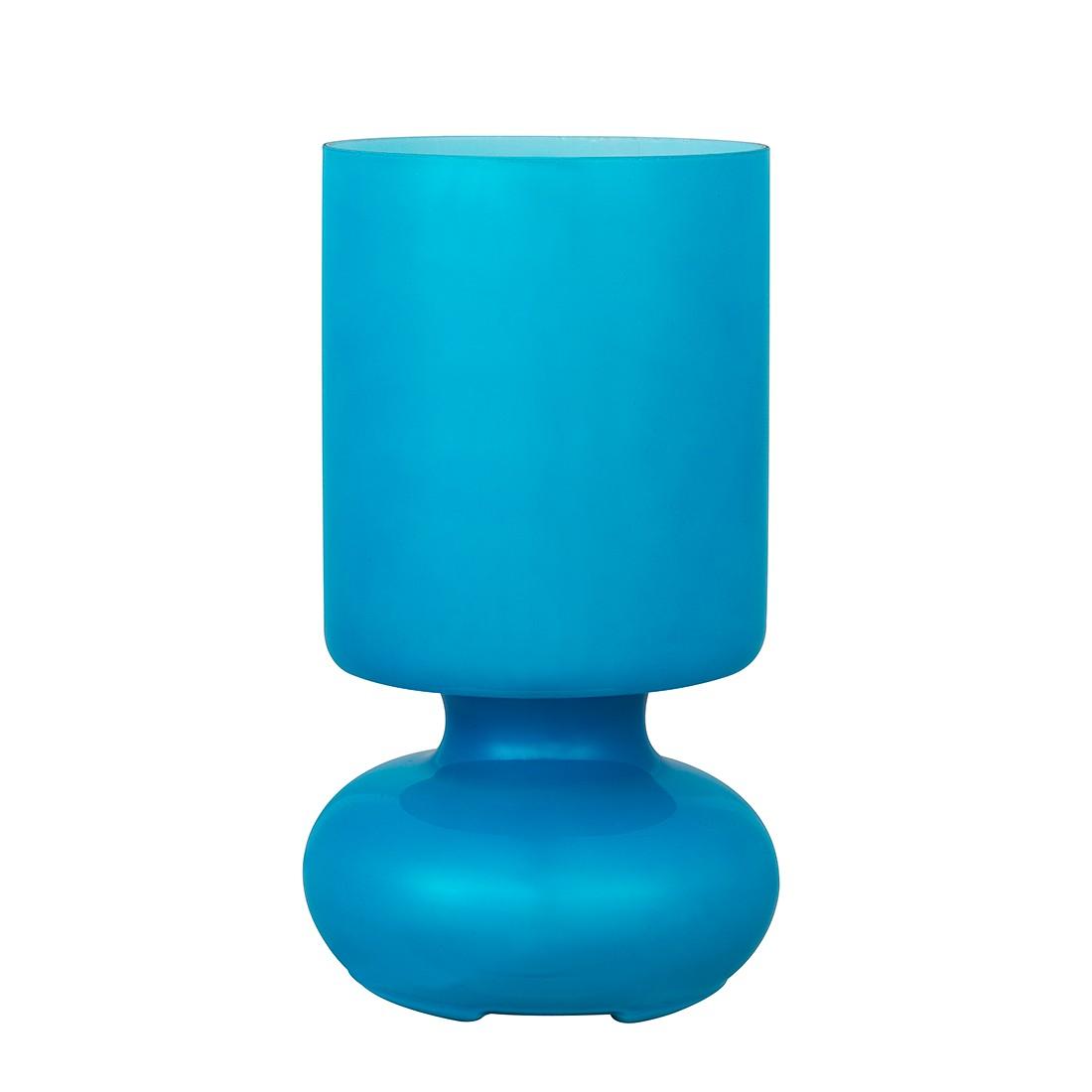 EEK A++, Tischleuchte Fuerte - Glas - Blau - 1-flammig, Brilliant