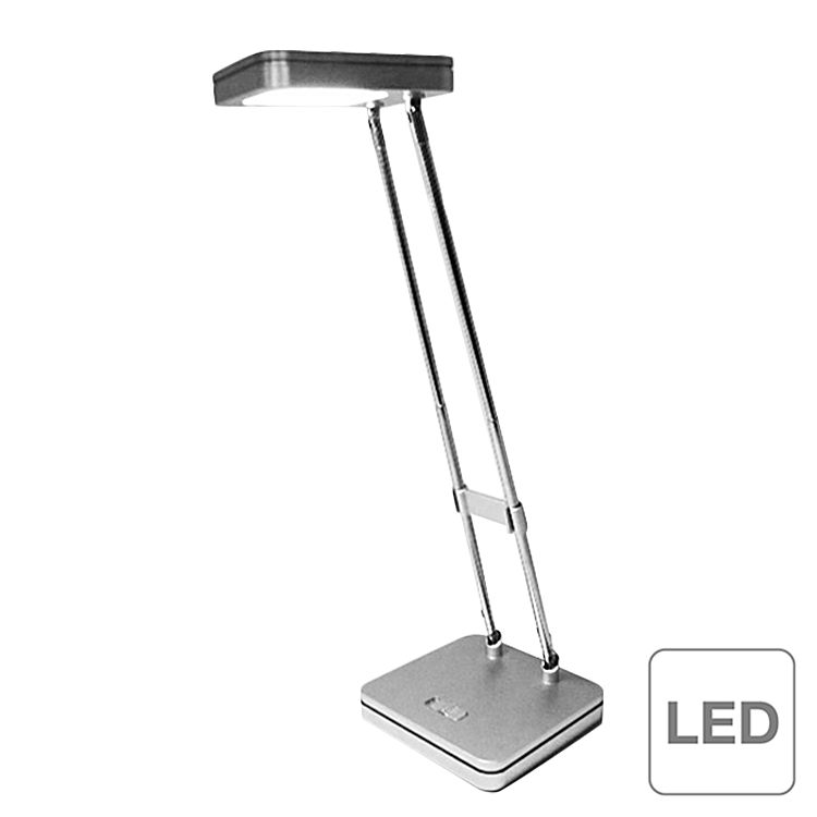 Action Tischleuchte Mika LED Modern Silber Metall 34 cm Höhe, Action