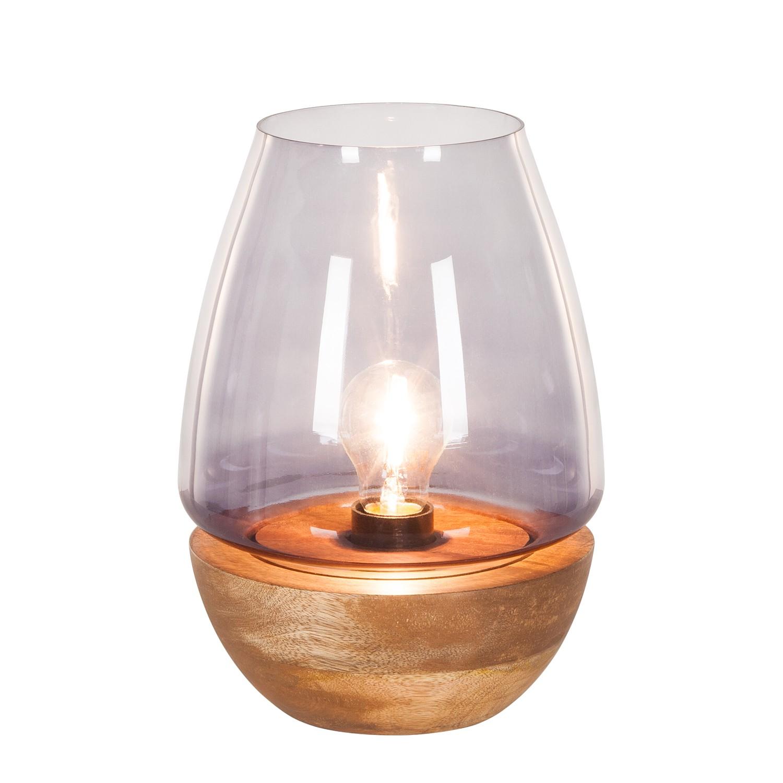 EEK A++, Lampe de table Mourenx - Verre / Bambou - 1 ampoule - 27, Eva Padberg Collection