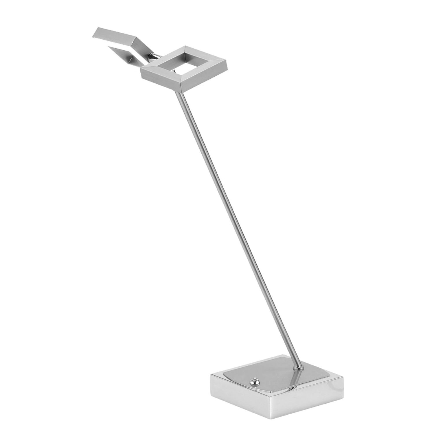 EEK A+, Lampe de table LED Twins - Fer Argenté, Paul Neuhaus