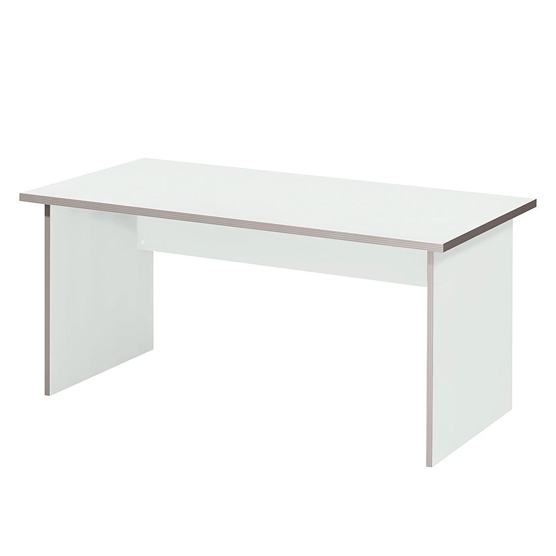Table de bureau Kirk volts - Gris clair - Plateau de table : 80 x 80 cm, Wellemöbel