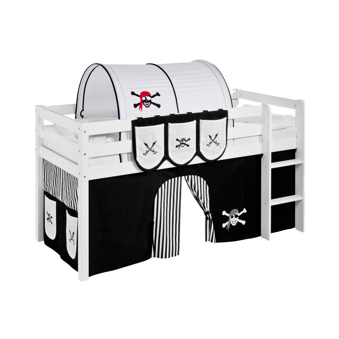 home24 Tunnel fuer Hochbett Spielbett Pirat | Kinderzimmer > Kinderbetten > Hochbetten | Schwarz | Textil | Lilokids