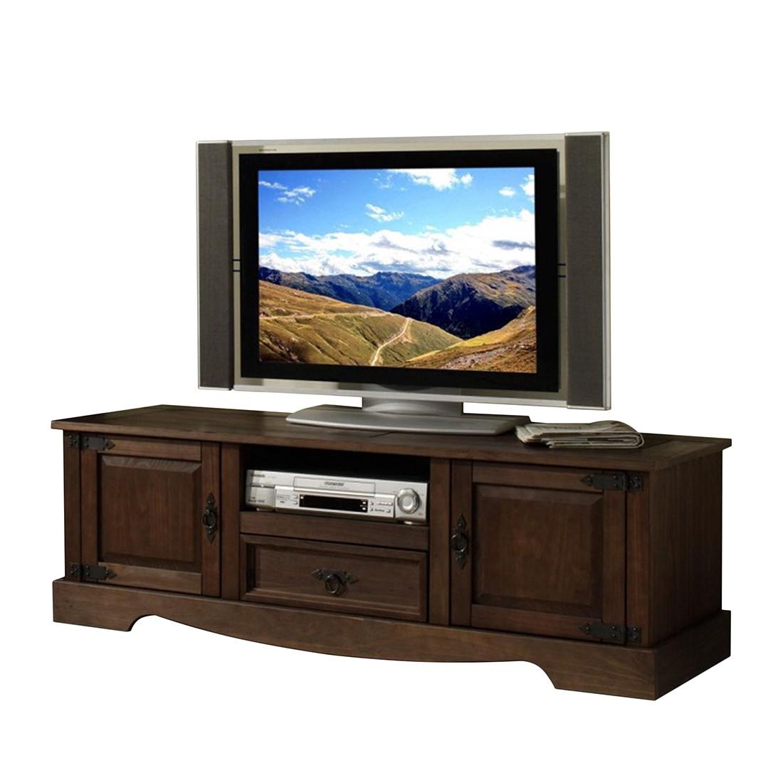 Mobile TV San Carlos - Legno massello di pino, coloniale, Ridgevalley