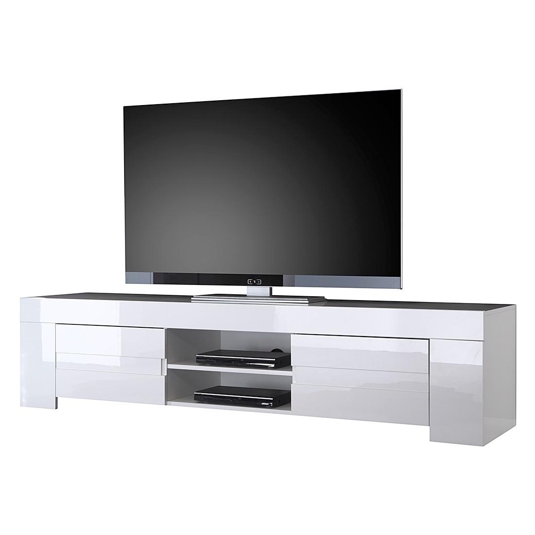 Mobile TV Gladiolo - Bianco lucido / Bianco, Lc Mobili