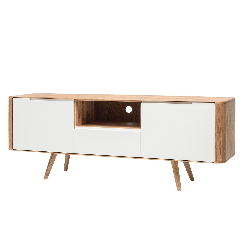 Meuble TV Loca III - Chêne sauvage partiellement massif - Blanc / Chêne, Studio Copenhagen