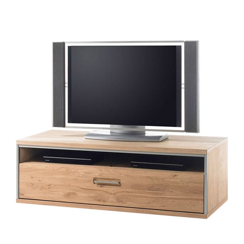 Meuble TV Lopburi I - Chêne bianco partiellement massif - 41 cm, Ars Natura