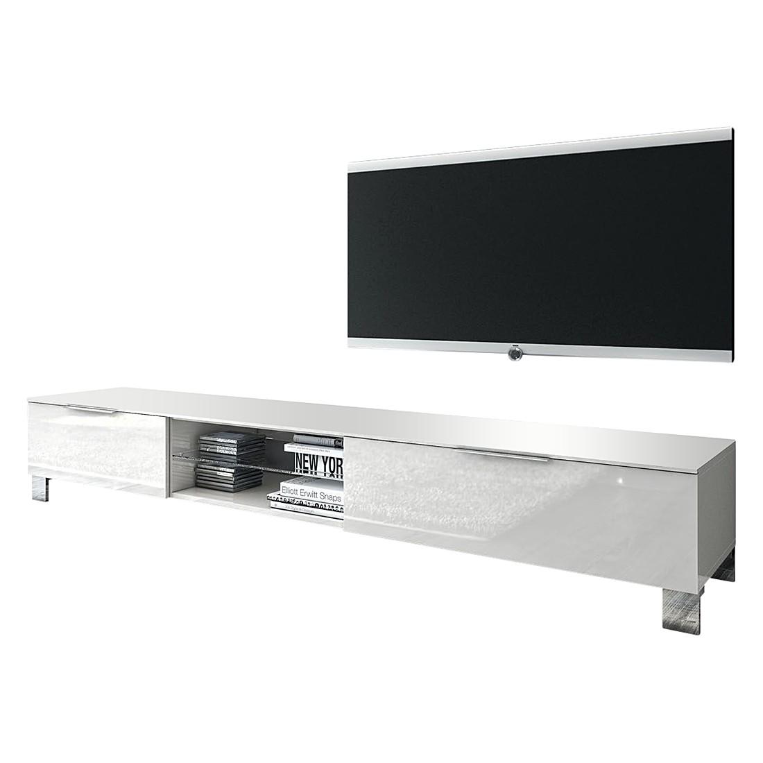 Tv-lowboard Margherita III hoogglans wit 180cm, Lc Mobili