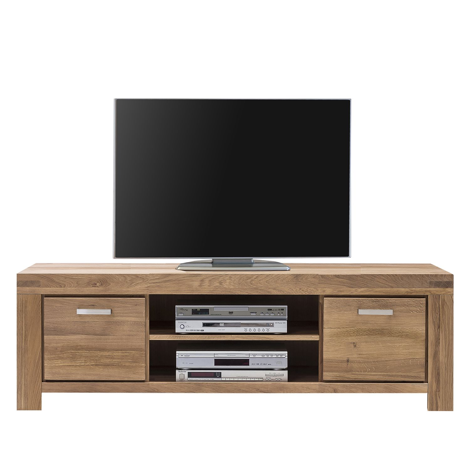 home24 Naturoo TV-Lowboard Massino IV Wildeiche Massiv 175x51x50 cm (BxHxT)