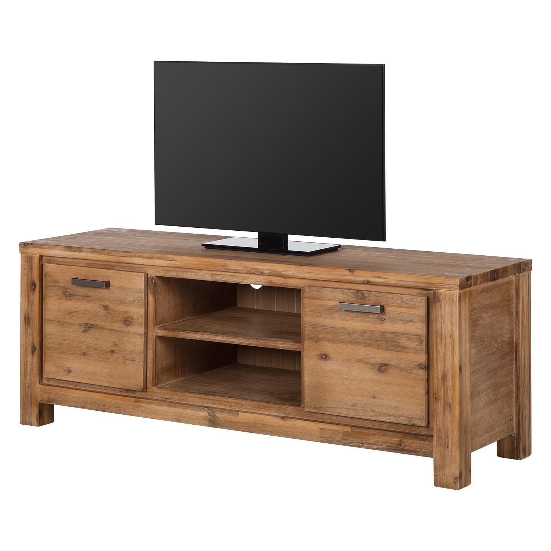 Meuble TV Toumanar II - Partiellement en acacia massif - Acacia sable, Ars Natura