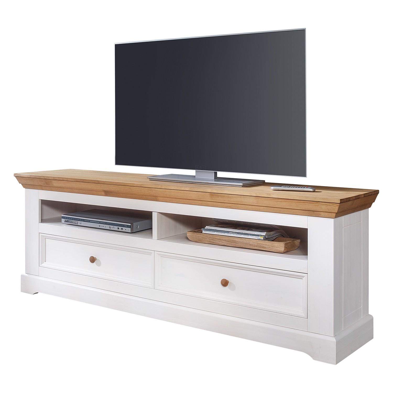 Meuble tv ummanz ii pin massif pin blanc pin miel for Meuble tv pin massif