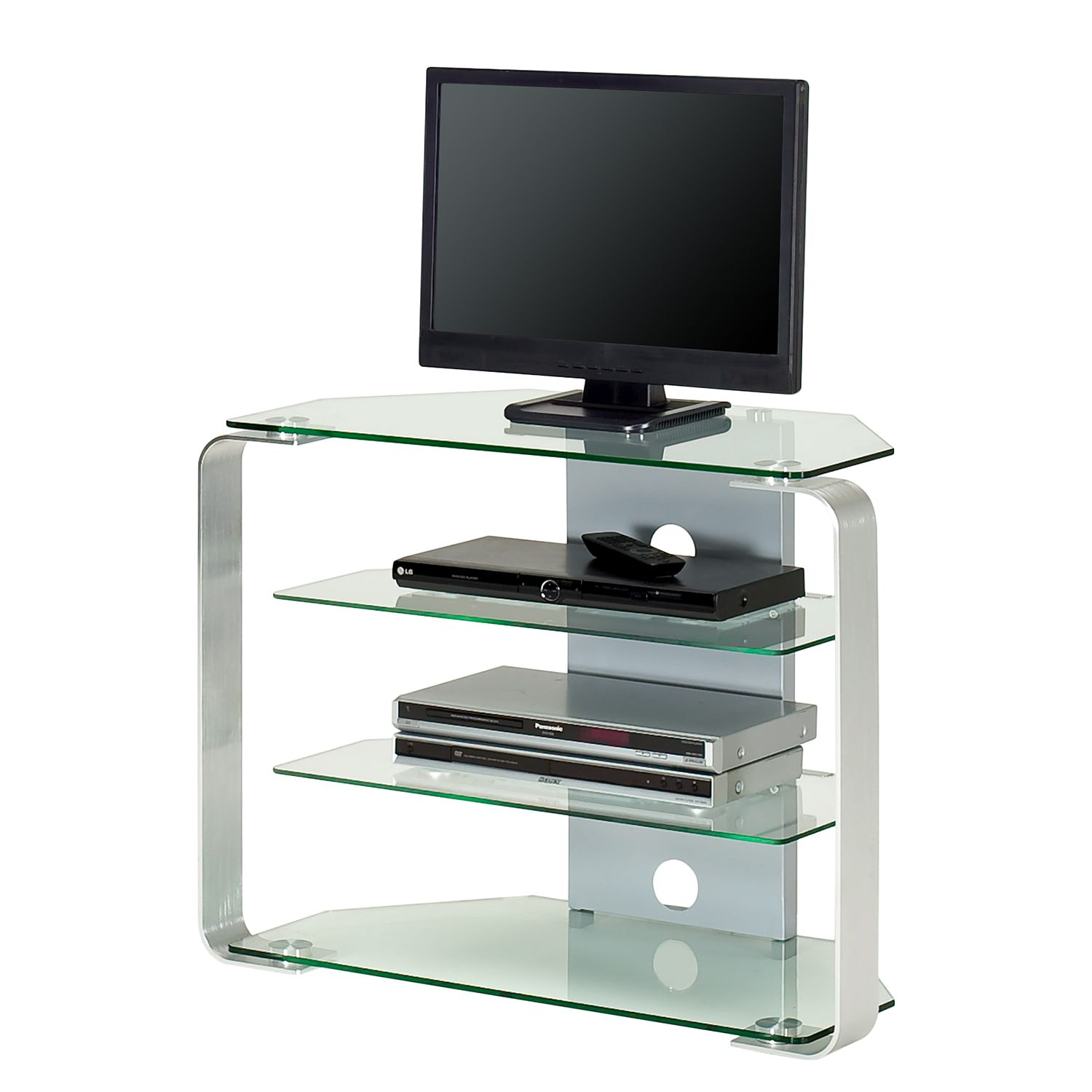 jahnke tv mobel katalog TV-Rack CU-MR 100 - Glas - Aluminium | home24.at