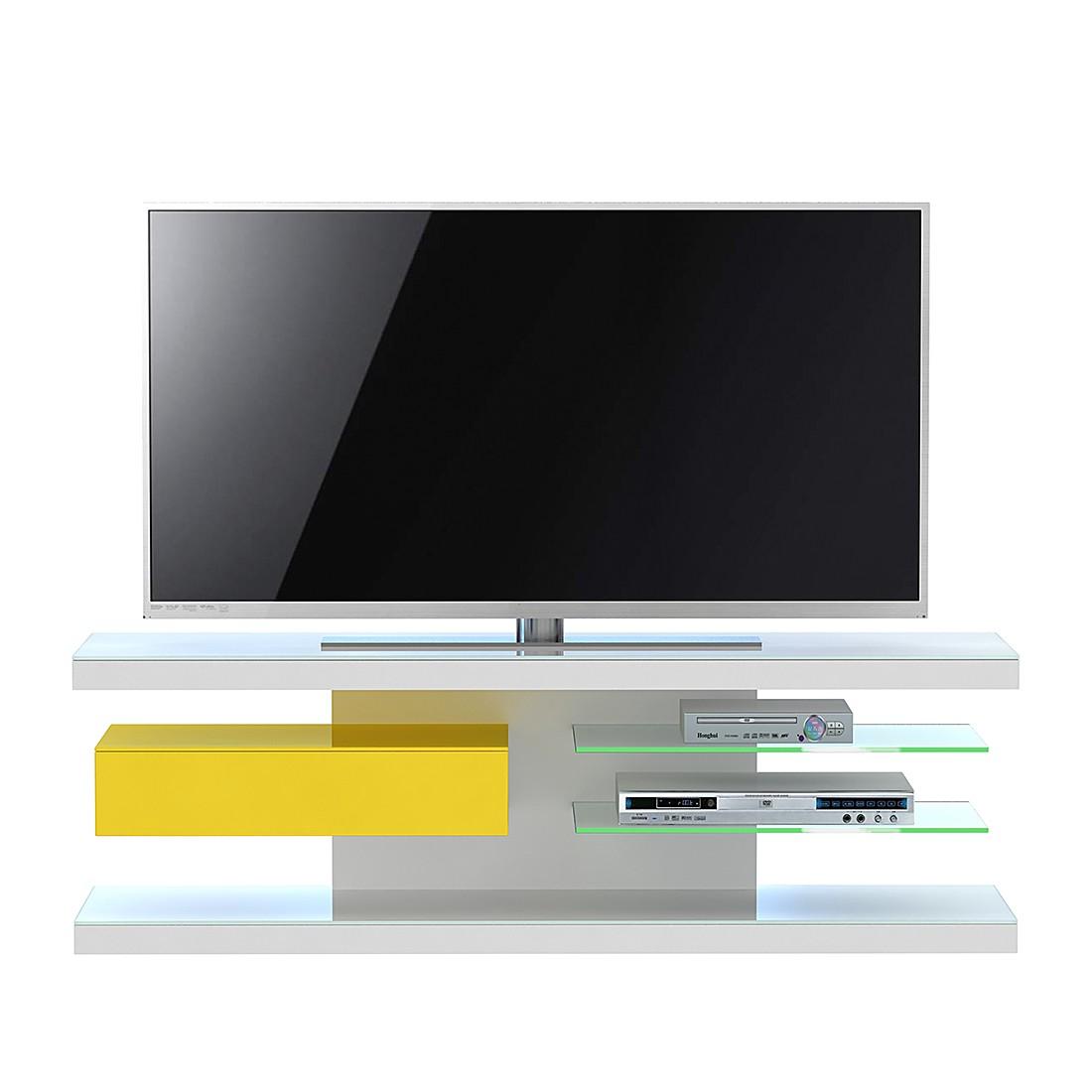 home24 TV-Rack SL 660 | Wohnzimmer > TV-HiFi-Möbel > TV-Raks | Weiss | Glas - Metall - Holz | Jahnke