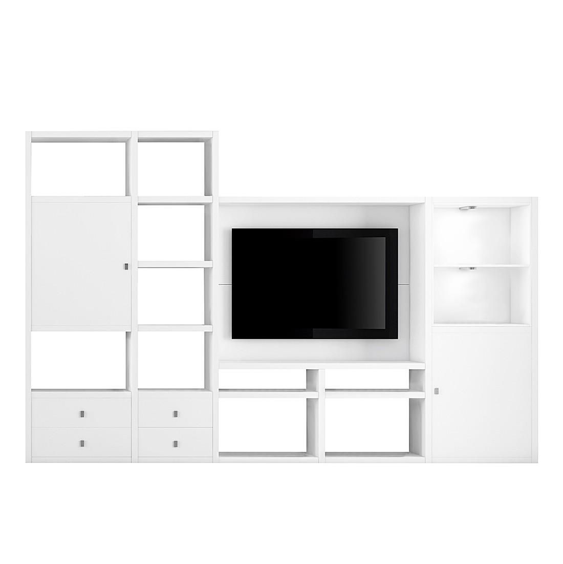 home24 TV-Wand Emporior II | Wohnzimmer > TV-HiFi-Möbel > TV-Wände | Weiss | Fredriks