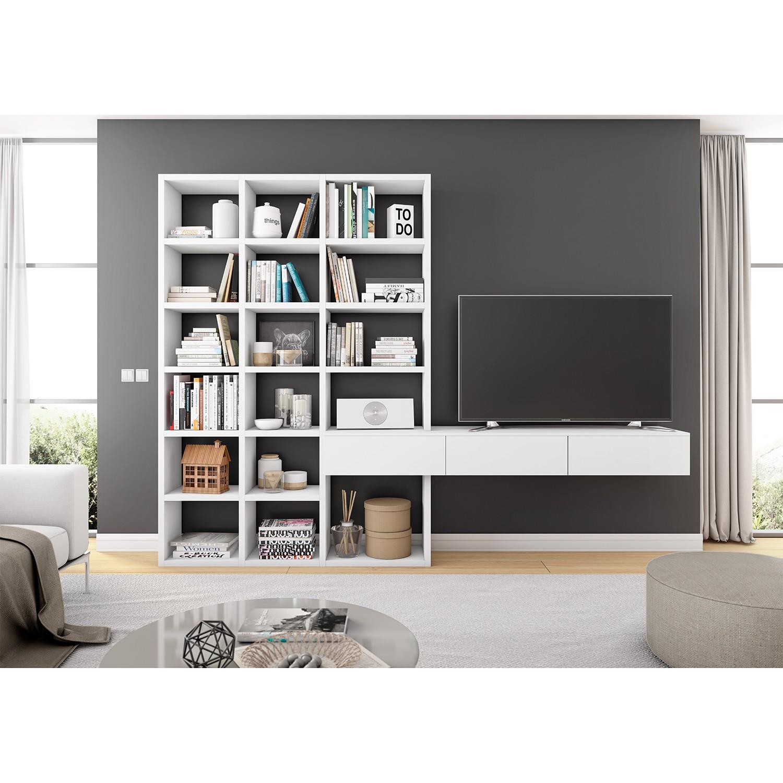 home24 TV-Wand Emporior III | Wohnzimmer > TV-HiFi-Möbel > TV-Wände | loftscape