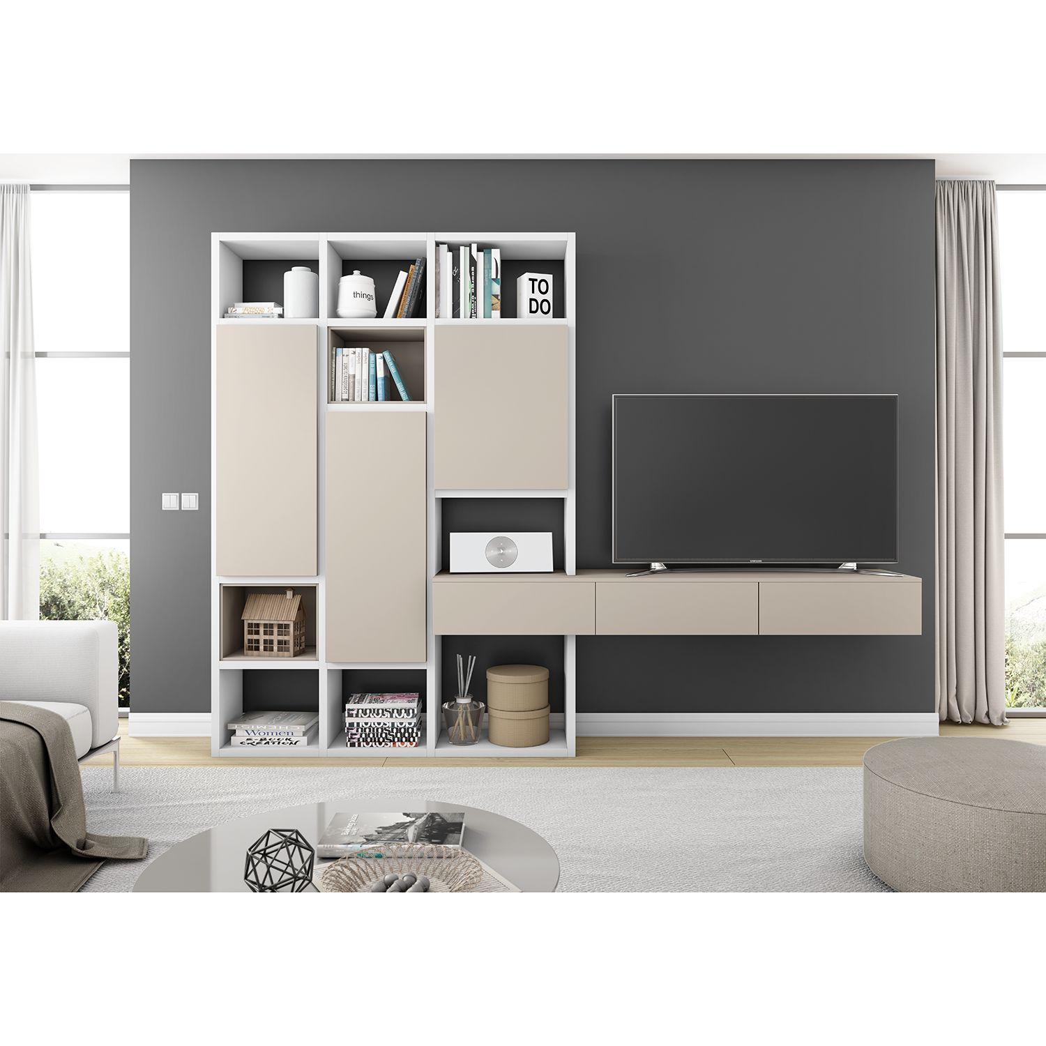 home24 TV-Wand Emporior IV