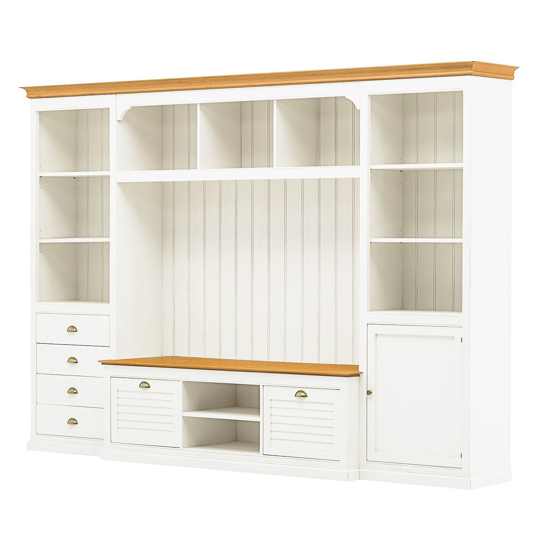 Weiss Holz Teilmassiv Tv Wände Online Kaufen Möbel Suchmaschine