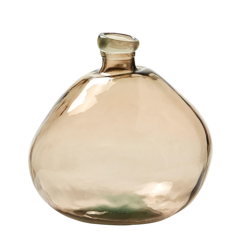 Vase brenna glas karamell chrom 4300900