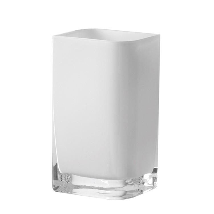 home24 Vase Lucca | Dekoration > Vasen | Weiss | Glas | Leonardo