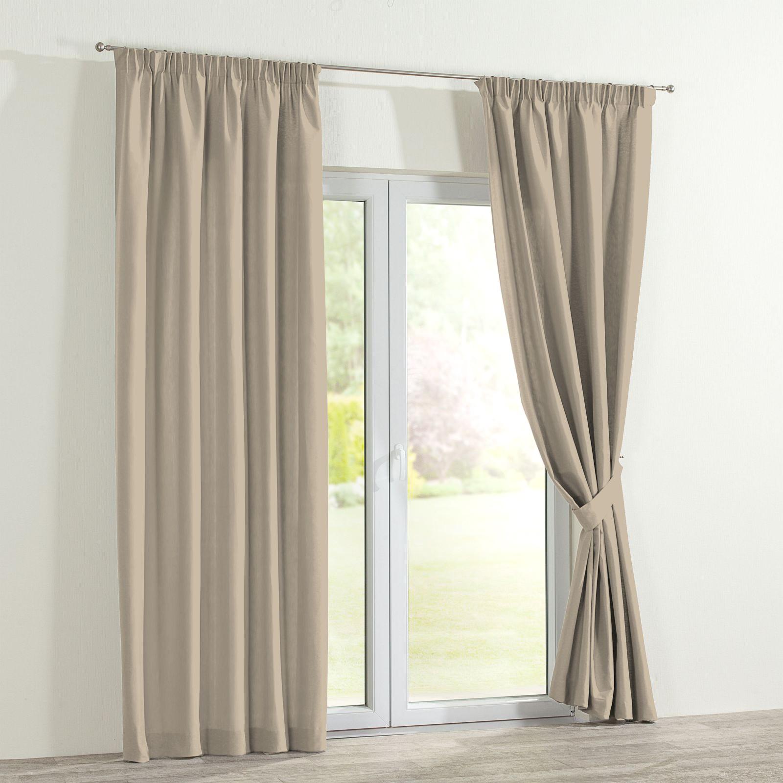 Verdunklungs-Vorhang mit Kräuselband - Beige | home24