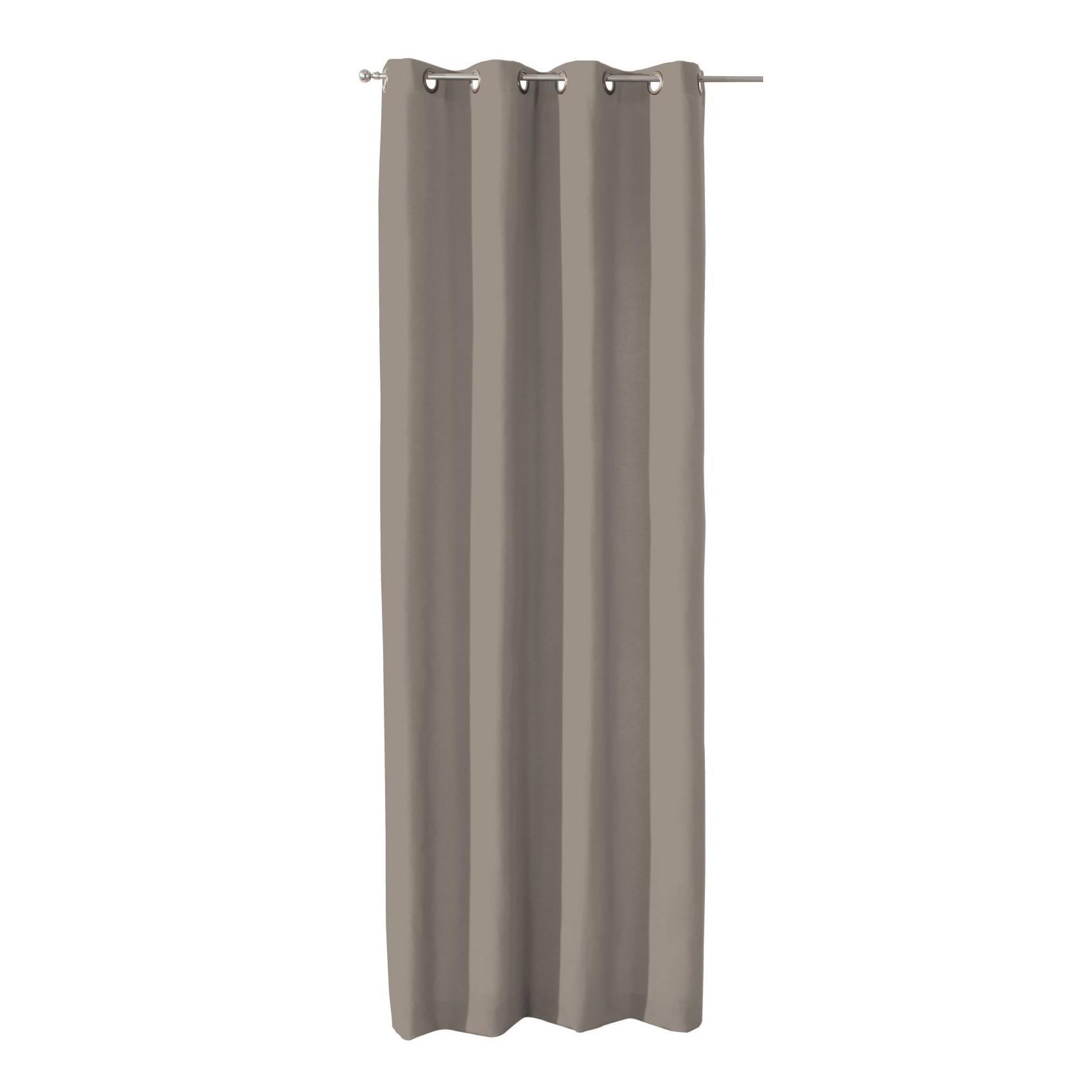 home24 Verdunklungs-Vorhang mit Oesen | Heimtextilien > Gardinen und Vorhänge > Vorhänge | Braun | Textil | Dekoria