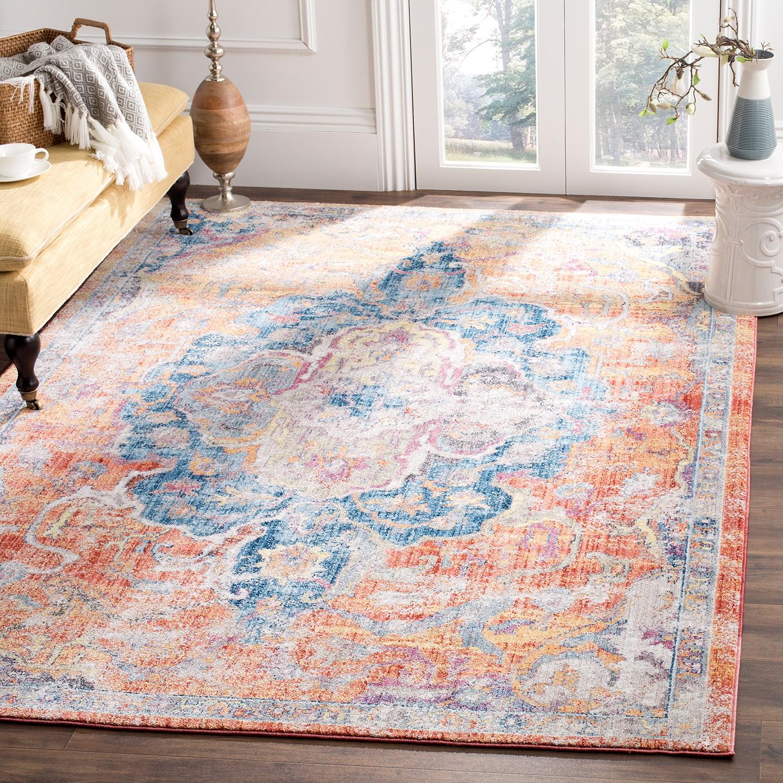 home24 Vintage-Teppich Ayla   Heimtextilien > Teppiche > Sonstige-Teppiche   Blau   Safavieh
