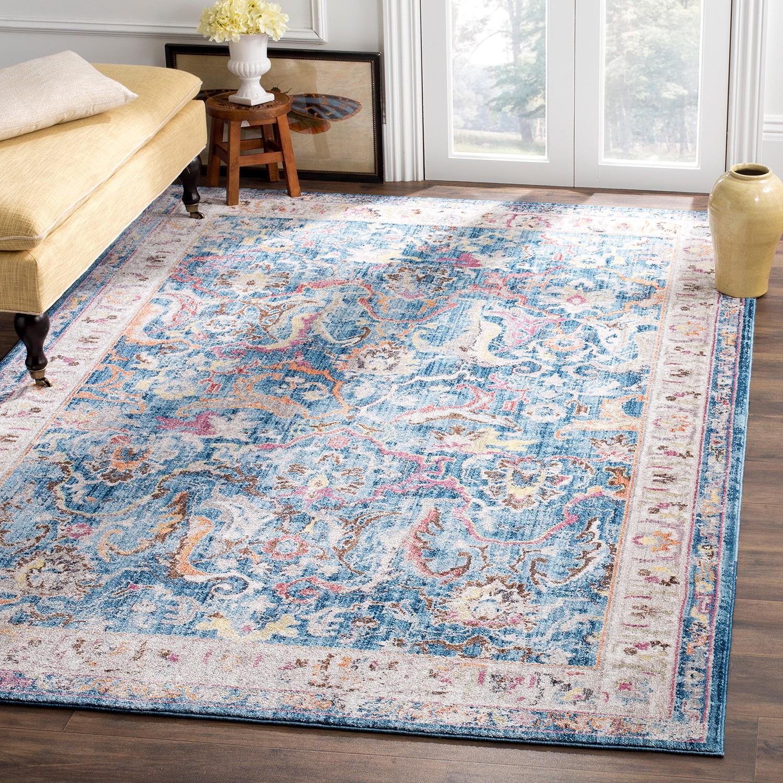 home24 Vintage-Teppich Myra Vision   Heimtextilien > Teppiche > Sonstige-Teppiche   Blau   Textil   Safavieh