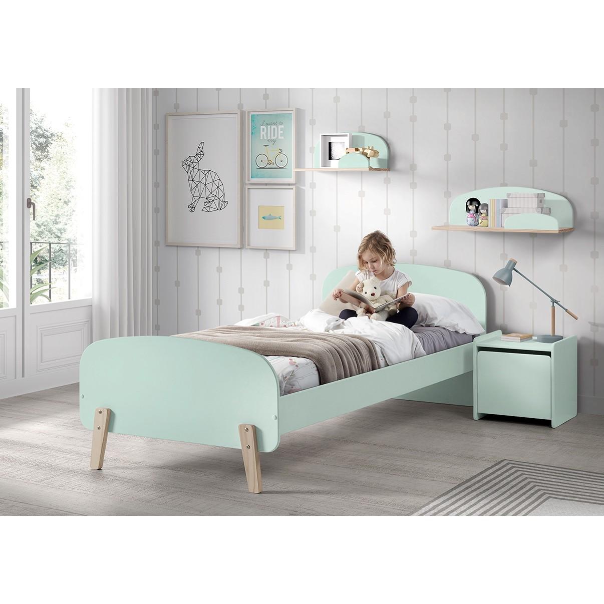 home24 Vipack Kommode Kiddy Mint MDF 40x40x36 cm (BxHxT) Skandi