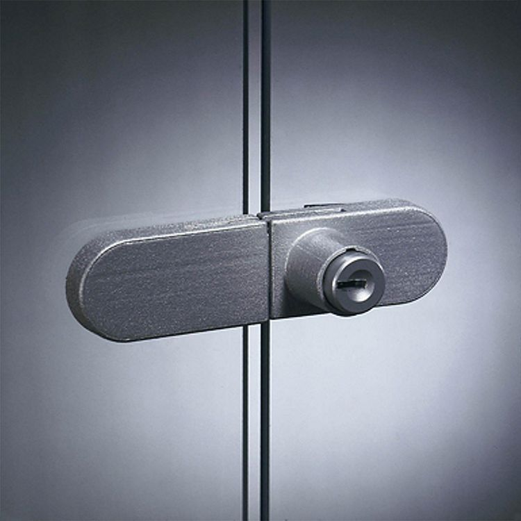home24 Vitrinenschloss fuer Exhibit Glasvitrinen | Wohnzimmer > Vitrinen > Glasvitrinen | Silber | Metall | Fredriks