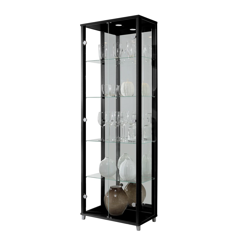 EEK A+, Armoire vitrine Exhibit (éclairage inclus) - Noir - 5 - Eclairage LED, Fredriks