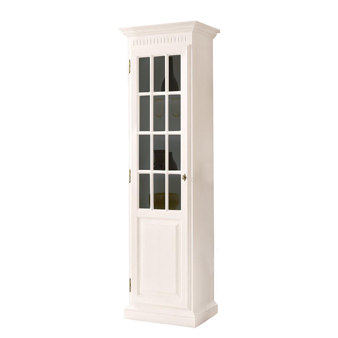 Armoire vitrine La Carlotta III - Pin massif - Crème - Sans éclairage, Ridgevalley