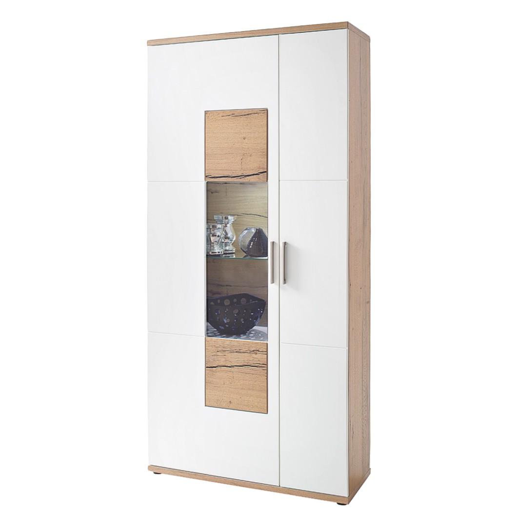 home24 Vitrinenschrank Serrata | Wohnzimmer > Vitrinen > Standvitrinen | Beige | Holzwerkstoff | Fredriks