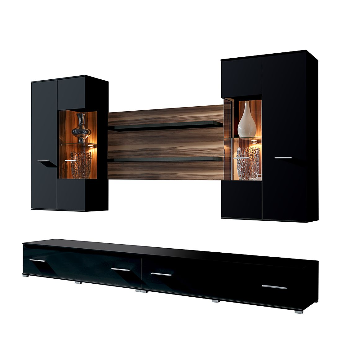 nussbaum wohnwand beautiful moderne wohnwand nussbaum holz modul now time with nussbaum. Black Bedroom Furniture Sets. Home Design Ideas