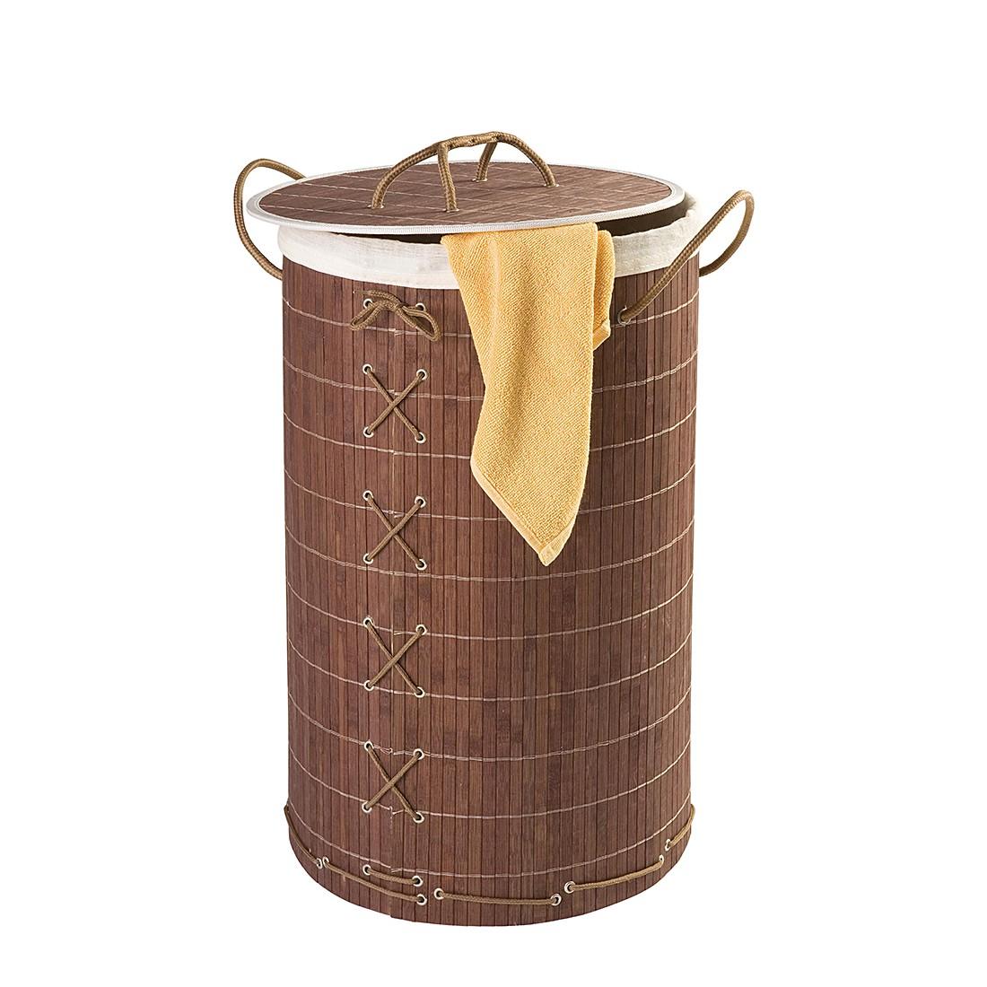 Waeschetruhe Bamboo | Bad > Bad-Accessoires > Sonstige Badaccessoires | Braun | Massivholz | WENKO