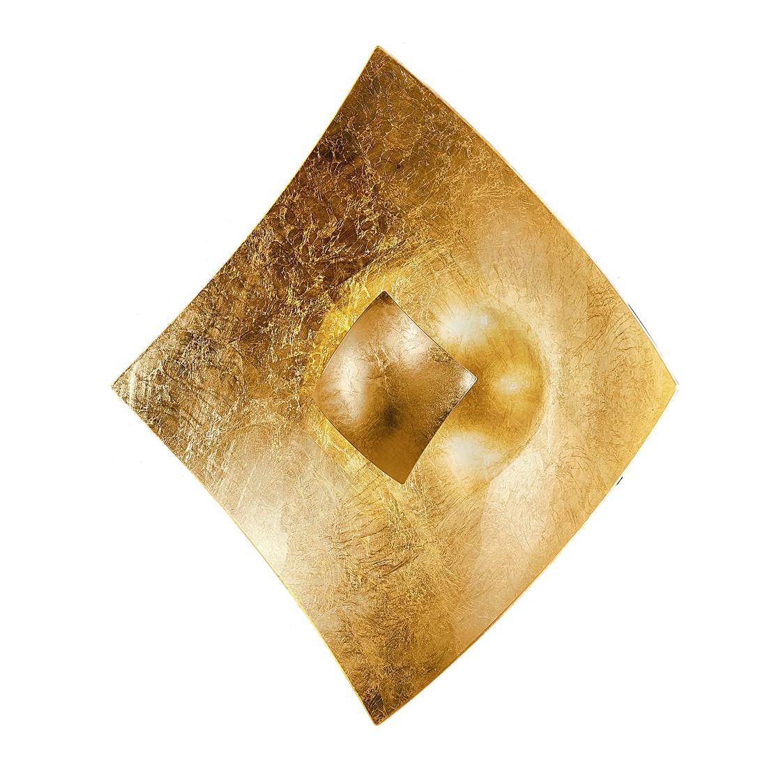 home24 Wandleuchte Quadrangolo Gold