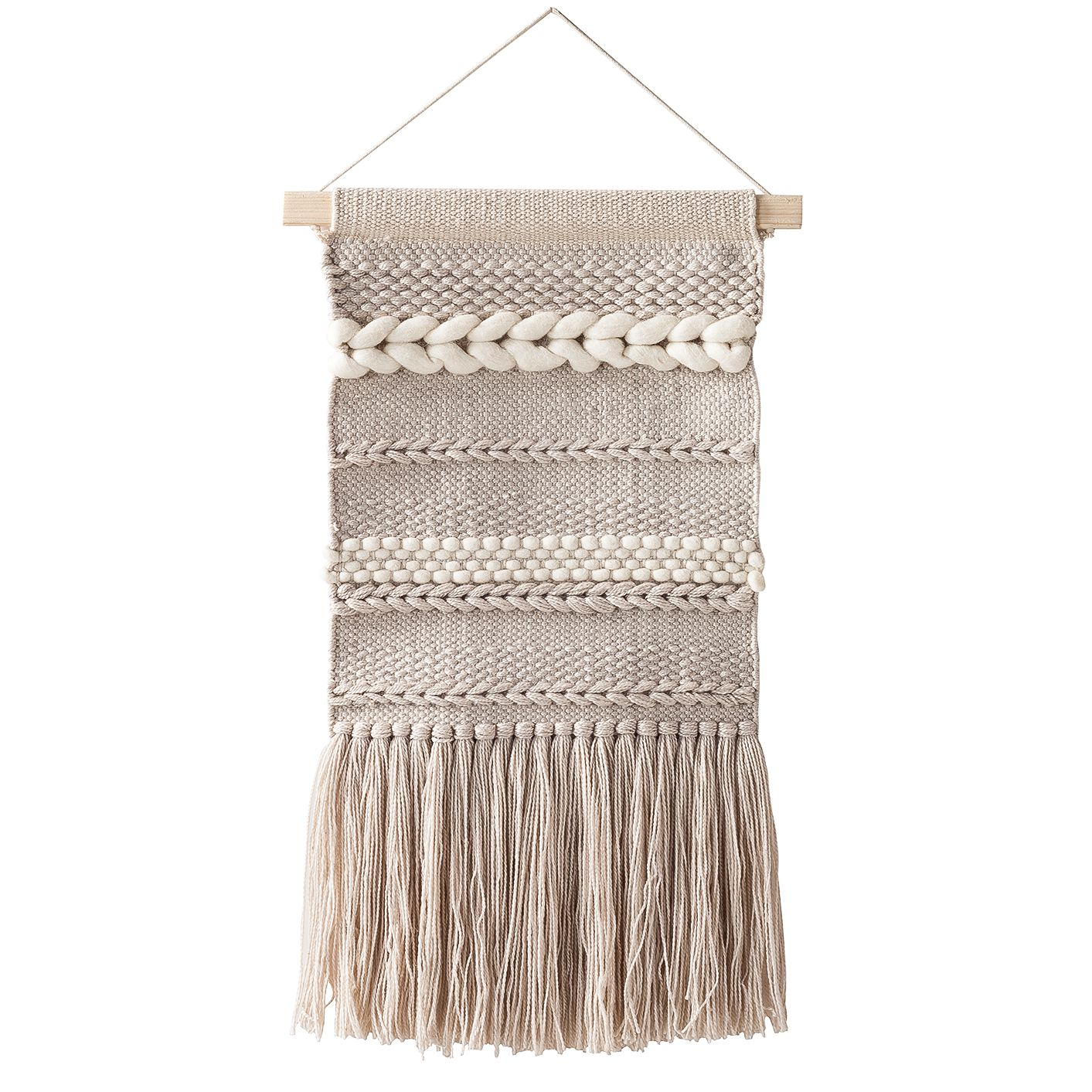 Wandbehang Chaves I - Webstoff - Beige, Eva Padberg Collection