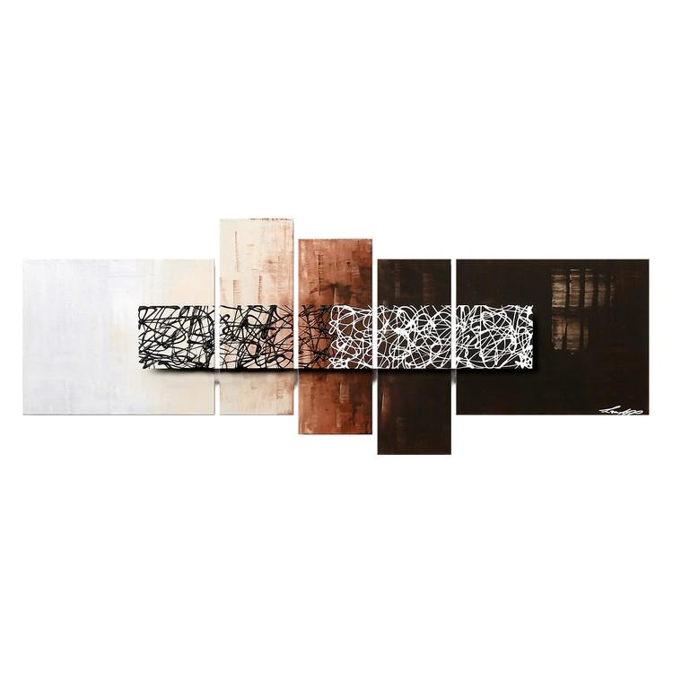 home24 Wandbild Ein Tag in der Nacht | Dekoration > Bilder und Rahmen | Beige | Massivholz | WandbilderXXL