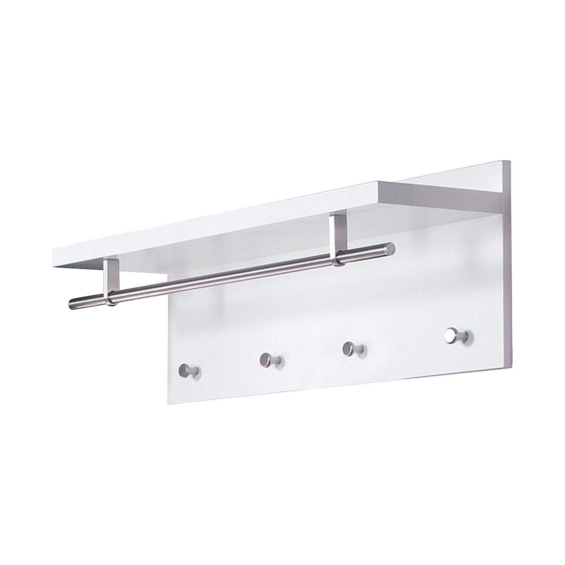 home24 Wandgarderobe Yolo I | Flur & Diele > Garderoben > Garderobenhaken | Silber | Holz - Holzwerkstoff | Home Design