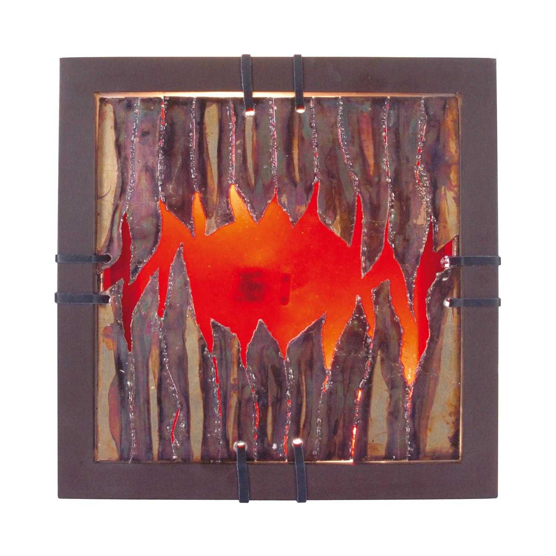 EEK A++, Wandleuchte Aura - Metall/Holz - Braun - 1-flammig, Näve