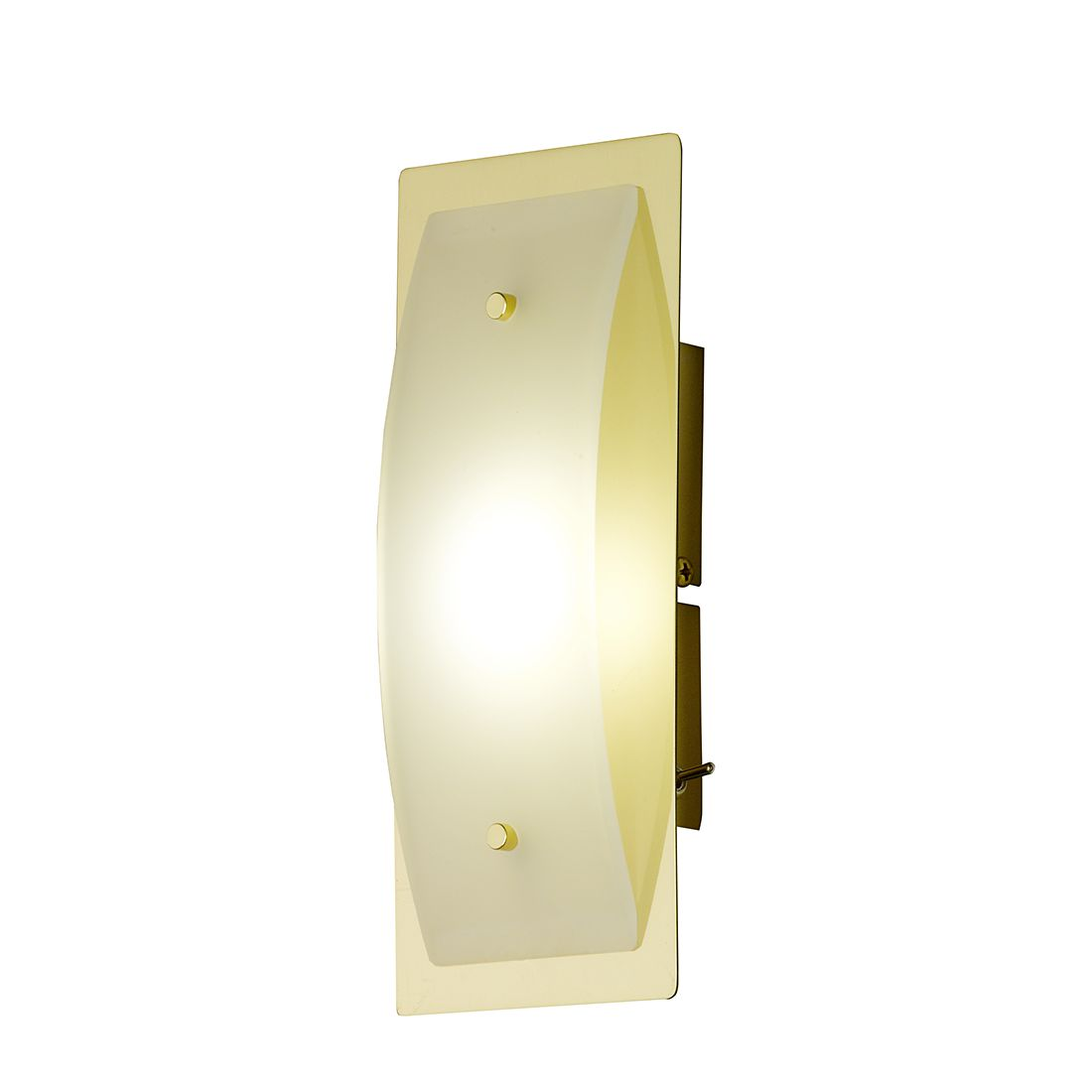 home24 LED-Wandleuchte Liana Metall Gold