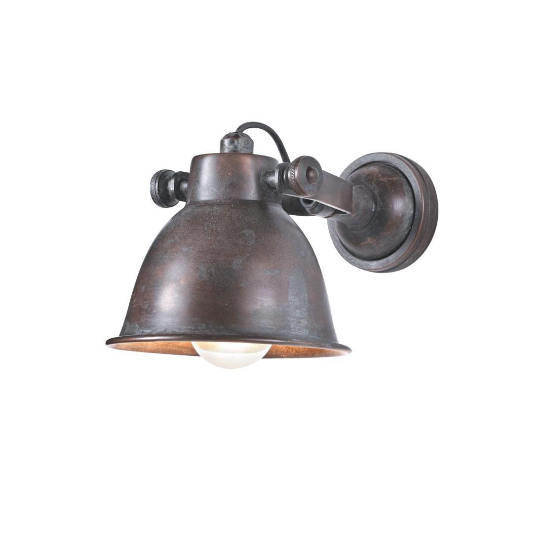 home24 Wandleuchte   Lampen > Wandlampen   Braun   Metall   PureDay