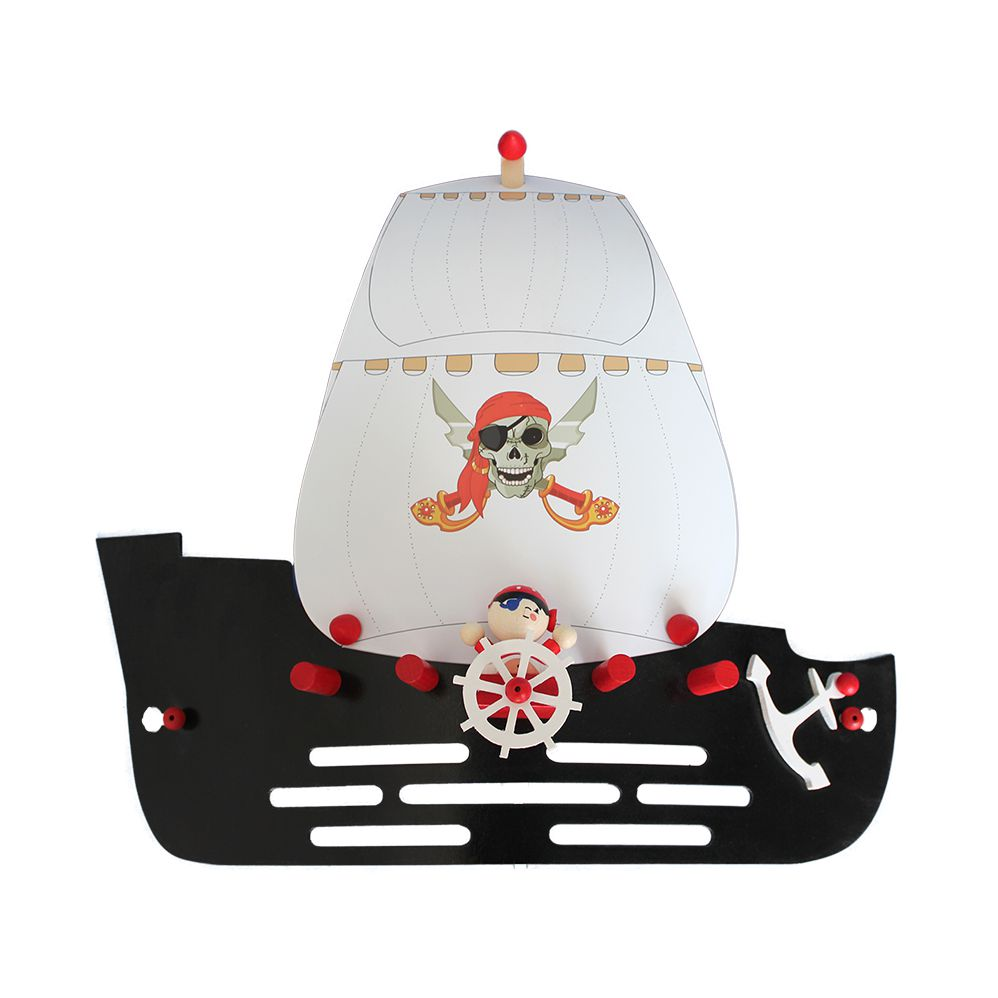 Applique murale bateau de pirates