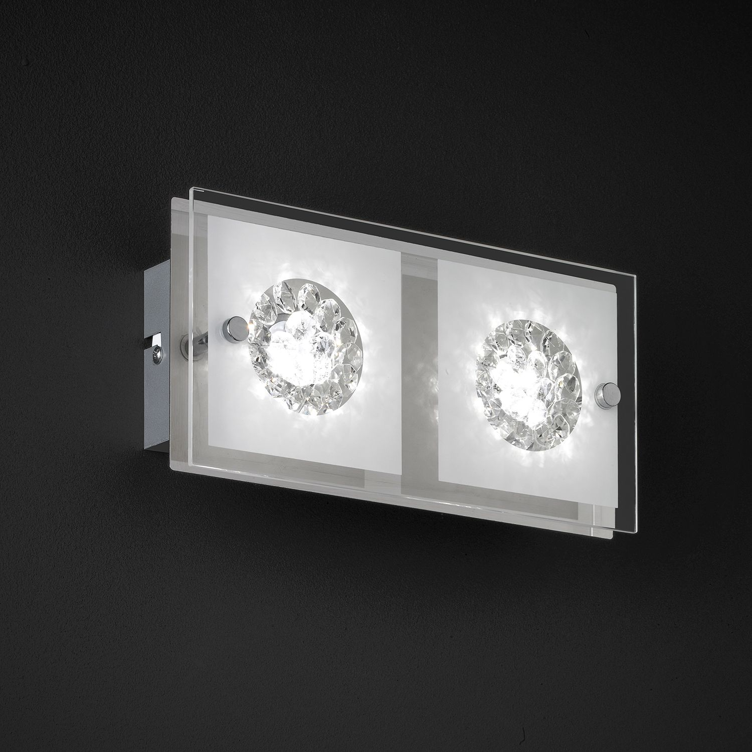 home24 LED-Wandleuchte Reims